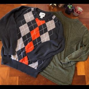 Boys argyle sweater and shirt size 5/6